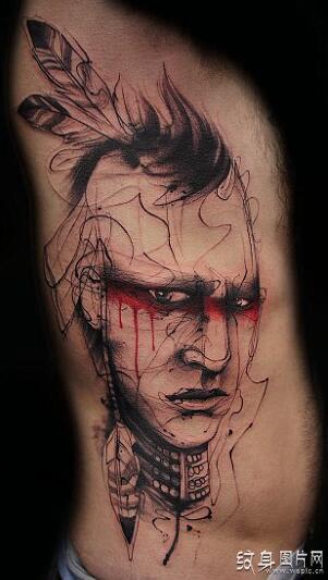 阿修罗纹身_恶鬼纹身图案和手稿欣赏,令人毛骨悚然的纹身设计_纹身图片网